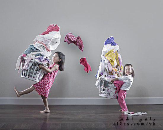أب ابدع في تصوير ابنتيه أثارت إعجاب الملايين حول العالم! - صور غريبة