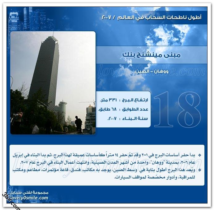 اطول ناطحات السحاب في العالم لعام 2007 مع الشرح المفصل لكل ناطحه او برج