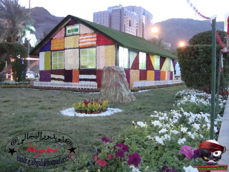 صور لبيت من الورد الطبيعي في مكة المكرمة