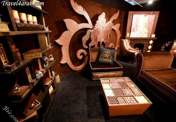 صورة غرفة مصنوعة من الشوكولاته