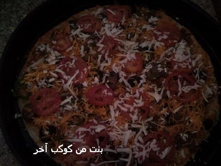 البيتزا الايطاليه من مطبخي بالصور