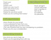 How to say Thank you & how to reply